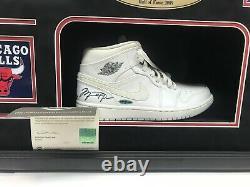 Michael Jordan Autographe Uda Framed Air Jordan Shoe, Chicago Bulls #coat