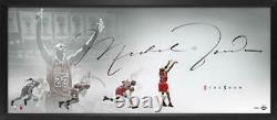 Michael Jordan Autographed Last Shot The Show 46 X 20 Lithographie Encadrée Uda