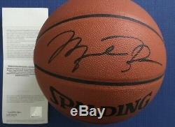 Michael Jordan Autographed Uda Pro Nba Basketball Spaulding