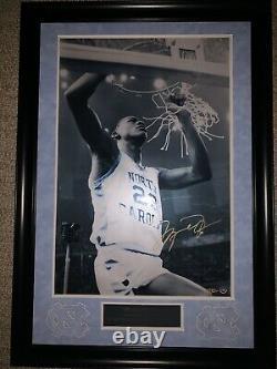 Michael Jordan Autographed Unc Coupe Le Filet 24 X 16 Upper Deck Uda