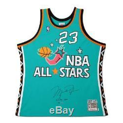 Michael Jordan Autographié 1996 Nba All Star M & N Authentique Jersey Uda Le 96