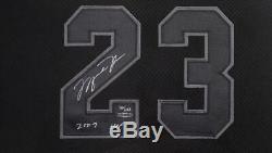 Michael Jordan Autographié 2009 Hof Authentique Jersey Noir Uda Le 100/123