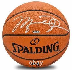 Michael Jordan Autographié Chicago Bulls Authentic Spalding Basketball Uda