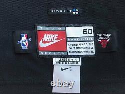 Michael Jordan Autographié Chicago Bulls Noir Authentique Jersey Nike Encadrée Uda