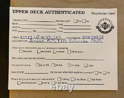 Michael Jordan Autographié Gatorade Slam Dunk 8x10 Upper Deck Coa. Uda. (encadré)