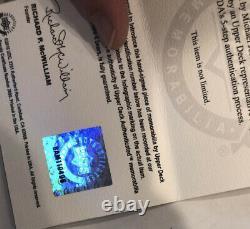 Michael Jordan Autographié M & N Chicago Bulls 97-98 Black Nba Jersey Uda Coa