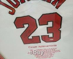 Michael Jordan Autographié Signé Chicago White Bulls Nike Jersey Uda Auto / 123