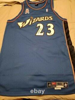 Michael Jordan Autographié/signé Wizards Jersey Le /275 Uda & Beckett Coa