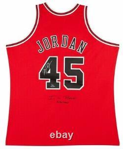 Michael Jordan Autographied Bulls #45 Je Suis De Retour Authentique M&n Jersey Uda Le 23/145