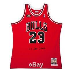 Michael Jordan Autographiés Bulls 1997-1998 Finales Nba Jersey Authentique Uda Le 123