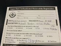 Michael Jordan Autosigné Uda Upper Deck 16x20 Assistants Bulls Photo Le 51/230