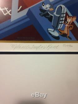 Michael Jordan Bulls Signé Space Jam Affiche Sérigraphique Auto Le / 100 Uda Coa Kent