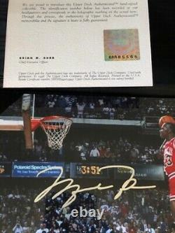 Michael Jordan Chicago Bulls Signed Boxed Dunk Contest 8x10 Photo Uda Coa