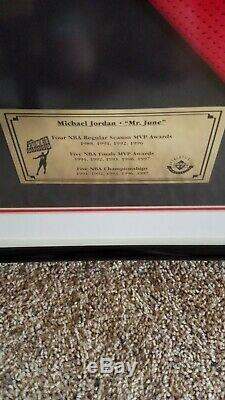 Michael Jordan Co, Ltd M. Juin Jersey Signé Uda 187/323 Encadrée