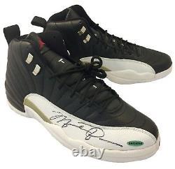 Michael Jordan Double Signé Autographié Air Jordan 12 Chaussures Taille 13 Uda Et Jsa