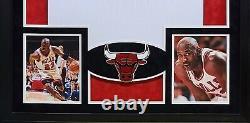 Michael Jordan Encadré Jersey Uda Autographié Chicago Bulls Upperdeck