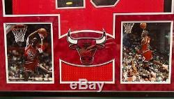 Michael Jordan Framed Jersey Uda Autographié Signé Chicago Bulls Upperdeck