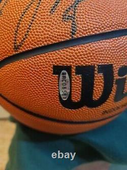 Michael Jordan Hof Signé Full Size Wilson Basketball Auto Upper Deck Uda Coa