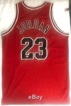 Michael Jordan Jersey Auto Red Bulls Signé Uda Coa Nike Autographié Goat