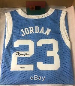 Michael Jordan Jersey Auto Unc Caroline Du Nord Uda Signé Coa Nike Autograph Rare