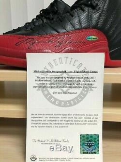 Michael Jordan Jordan 12 Signé Flu Jeu 2016 Taille Uda 10.5 Marque Nouveau