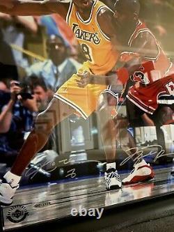 Michael Jordan / Kobe Bryant Dual Signé 16x20 Photo Uda Super Rare