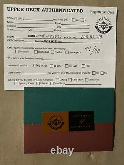 Michael Jordan Last Dance Final Floor Signed Uda Extrêmement Rare! 44/98