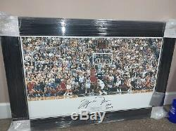 Michael Jordan Last Shot Signé Framed Upper Deck Uda Rare Seulement 66! Hof Bulls