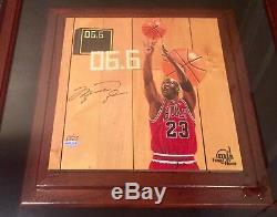 Michael Jordan Le 17/23 Final Shot Jeu Floor Piece-uda