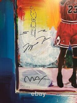 Michael Jordan Lithograph Peter Max Avec Remarque! Uda / Psa-dna # 111/123