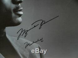 Michael Jordan Muhammad Ali Autographié 45x27 Imprimer Framed Uda Camp Steiner
