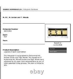 Michael Jordan Muhammed Ali Tiger Woods A Signé Uda Upper Deck Display Ltd À 500