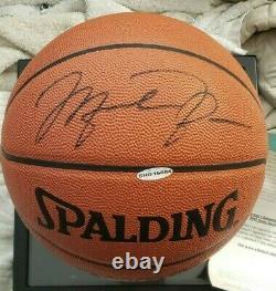 Michael Jordan Nba Cuir Autographié Basketball Uda Pont Supérieur