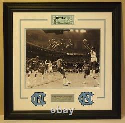 Michael Jordan North Carolina Tar Heels Autographié Signé 16x20 Uda Upper Deck