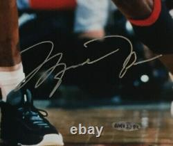 Michael Jordan Penny Hardaway Signé 16x20 Photo Encadrée Mint 2 Auto Uda Coa /250
