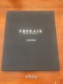 Michael Jordan Rare Air Autographed Book Upper Deck Authentifié Uda