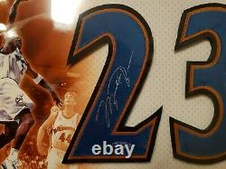 Michael Jordan Rare Uda Encadré Wizard Jersey Autographié #2 Avec Certificat