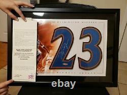 Michael Jordan Rare Uda Jersey Encadrée Autographié Wizard # 2 Avec Certificat