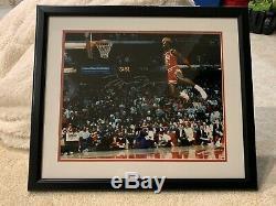 Michael Jordan Signé 16x20 Slam Photo Encadrée Uda Trempent Upper Deck Mj Auto Bulls