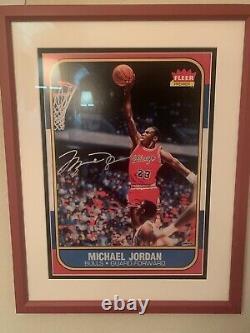Michael Jordan Signé 1986 Rookie 13x17 Rookie Uda Authentifié