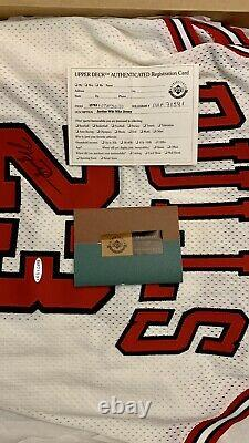 Michael Jordan Signé 1998 Chicago Bulls Nike Pro Cut Jersey Uda Upper Deck Coa