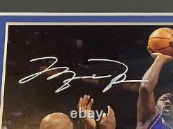 Michael Jordan Signé 8x10 Auto Rare Photo Encadrée Coa Uda Wizards De Pont Supérieur