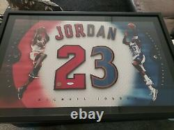 Michael Jordan Signé Autograph Jersey Number Bulls Wizards 23 Uda Upper Deck