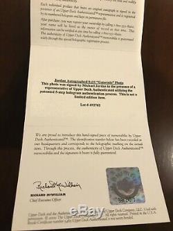 Michael Jordan Signé Autographié 8x10 Encadrée 88 Slam Dunk Photo Uda Upper Deck