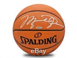 Michael Jordan Signé Autographié Basketball Officiel Nba Spalding Bulls Uda