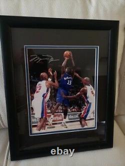 Michael Jordan Signé Autographié Rare Encadré Photo Coa Uda Wizards De Pont Supérieur