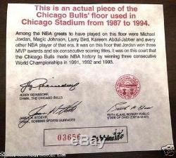 Michael Jordan Signé Autographié Uda Coa Chicago Stadium Framed Shadowbox Étage