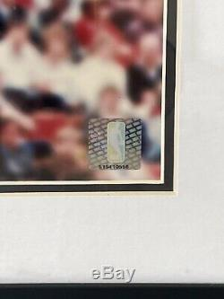 Michael Jordan Signé Berceau Dunk 16x20 Encadrée Upper Deck Uda Assermentée
