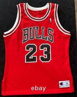 Michael Jordan Signé Champion Jersey Super Deck Uda Rare