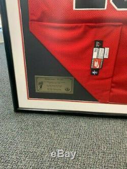 Michael Jordan Signé Chicago Bulls Nike Jersey Encadré Uda M. Juin 125 323
